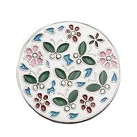 Wmaple Butterfly Pattern Handbag Hooks for Table Desk Purse Hooks for Women Girl White 4.5cm in diameter