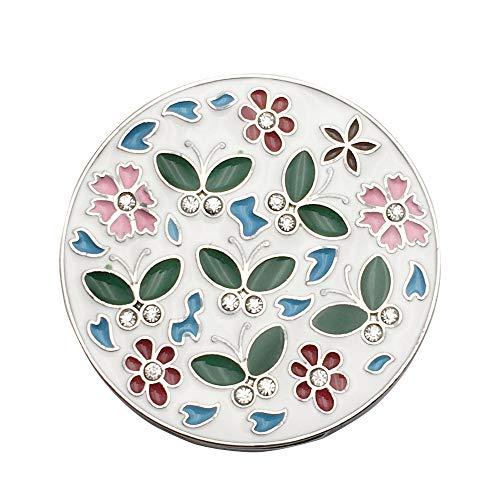 Folding Purse Handtaschenhalter Kleiderbügel Haken mit Blumen Muster Dekoration für Tisch Schreibtisch -