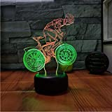 Fushoulu Visuelles Nachtlicht Des Fahrrades 3DBedside Dekorative Lampe 3D Für Das Schlafzimmer Der Kinder Usb Führte Leuchten 3D