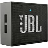 JBL Go - Altavoz portátil para smartphones, tablets y dispositivos MP3(3 W, Bluetooth, recargable, AUX, 5 horas), color negro