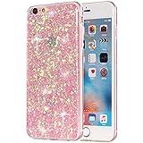 iPhone 6 6S Plus TPU Glitzer-Hülle – Pailletten Glitzer Schutzhülle Case Crystal Case mit Glitzer Bling Bling Uni Design Muster Beschichtung iPhone-6-6S-Plus-+ – MOVOJA – Rose / Pink