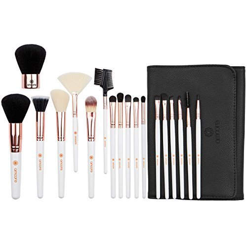 amoore Make Up Pinsel Pinselset Make Up Pinsel Sets Make Up Buersten mit der Make up Pinsel Tasche...