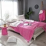 Rollsnownow Dark Pink Solid Color Verdickung Winterdecke Kleine Frische Flanell Sofa Cover Blanket ( größe : 180*200cm )