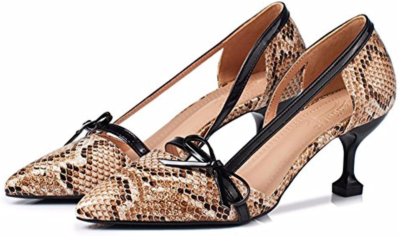 YUCH Donna Sandali Appuntita Cava di Lavoro High-Heeled Scarpe Donna Donna Donna | Nuova voce  e1510f
