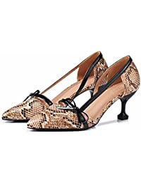YUCH Mesdames High Heels Sandales À Lanières Bague de Pied,Rose,34