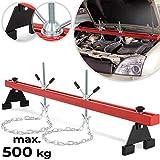 Timbertech Ponte Montaggio per Motore | Fino 500 kg, con Due Catene, per Macchine | Gru Sollevamento Motore, Supporto Motore, Staffa Sostegno Motore