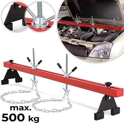 Motorbrücke - bis 500kg, mit zwei Ketten, für Kfz - Kotflügeltraverse, Motorheber, Motorhalter, Motor Traverse
