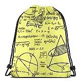 vintage cap Common Equations - Yellow_44266 3D Print Drawstring Backpack Rucksack Shoulder Bags Gym Bag for Adult 16.9