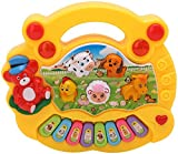 SUPER TOYS animal piano with real animal sound, piano sound ,LED flash Light ( Design & Color As Per Availability )
