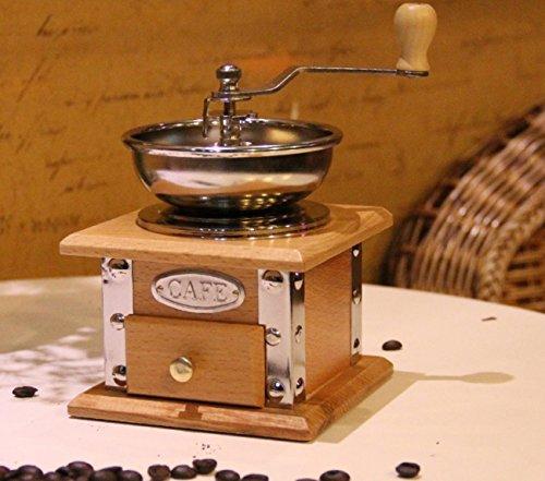DANDANJIE Tragbare Manuelle Kaffeemühle aus Holz Coffee