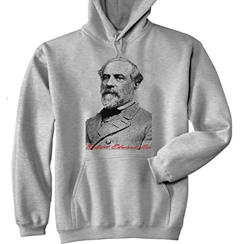 Teesquare1st Men's LEE ROBERT EDWARD Grey Hoodie Size