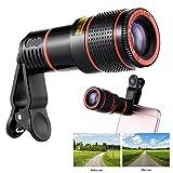 CALISTOUS Telefon Teleskop, X Zoom Handy Objektiv Clip on Teleskop Kamera Objektiv f¨¹r iPhone 7 Plus 6S Plus Samsung S8 S7 Edge Schwarz