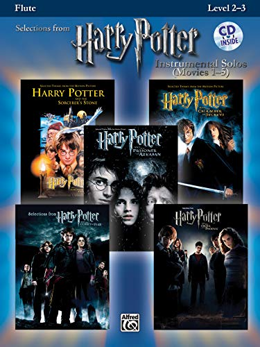 Harry Potter Movies 1-5, w. Audio-CD, for Flute (Harry Potter Instrumental Solos (Movies 1-5): Level 2-3)