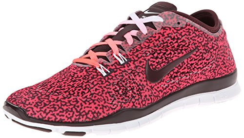 Nike Free 5 0 Tr Fit 4, Chaussures de sports en salle femme Rouge (Hyper Punch/Dp Burgundy-White)