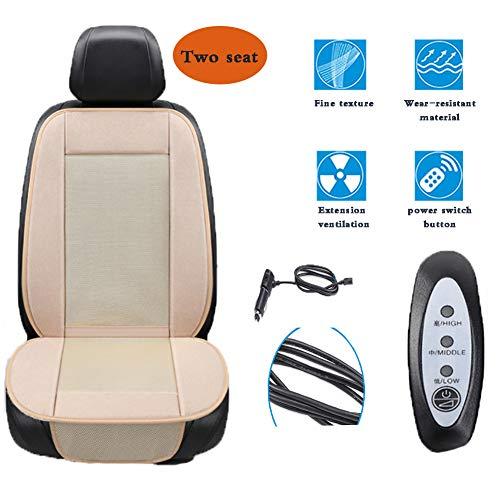 Yan Jianliang Sedile di Raffreddamento, 12V con Ventola coprisedile Auto per Auto con Funzione di Raffreddamento, Coprisedile Bambini Universale per Sedili Auto,A
