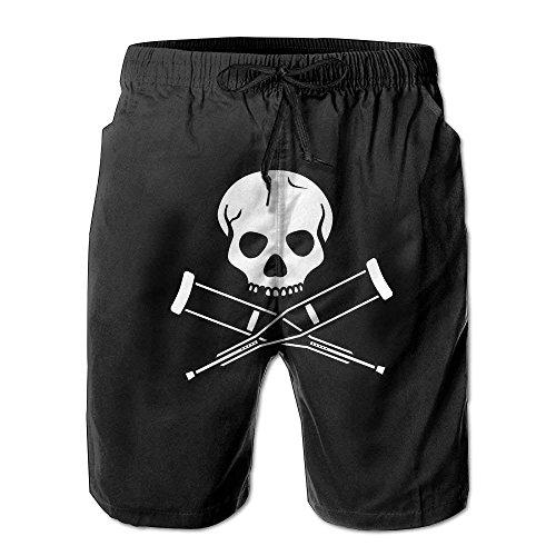 Skull Tattoo Skull Tattoo Long Tropical Print Beach Shorts Cool Style for Men Boys Juniors Board Short with Pockets(XL) -