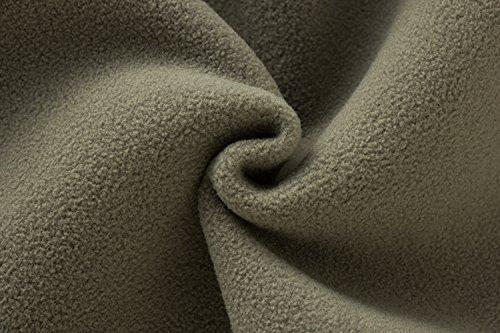Lanbaosi women's hiver chaud extérieur de la tenue de laine casquette active gilet slim Rouge