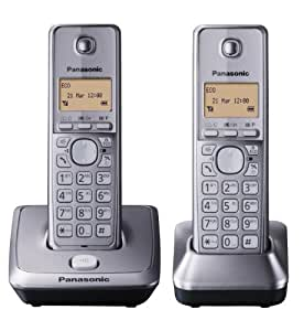 panasonic kx tg2712em twin dect cordless telephone set electronics. Black Bedroom Furniture Sets. Home Design Ideas