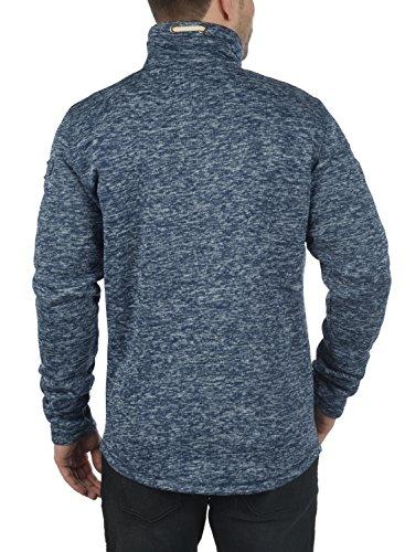 !Solid Luki Herren Fleecejacke Sweatjacke Jacke mit Stehkragen und Melierung, Größe:S, Farbe:Insignia Blue Melange (8991) - 4