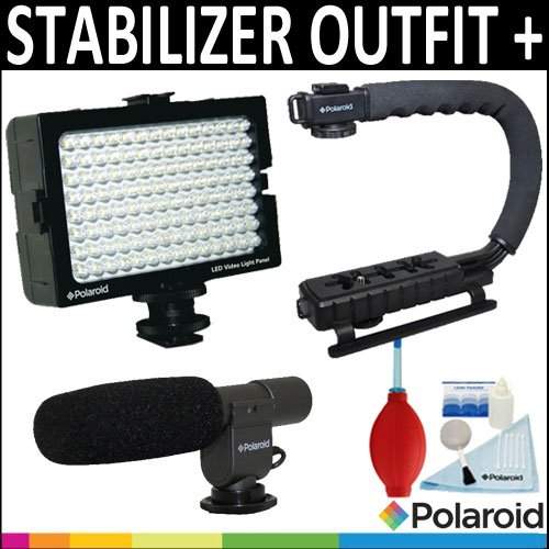 polaroid-sure-grip-professional-action-stabilizing-handle-mount-polaroid-pro-video-condenser-shotgun