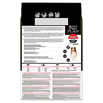 Pro Plan Medium Adult Sensitive Skin avec Optiderma Riche en Saumon - 3 KG - Croquettes pour Chiens Adultes de Taille Moyenne