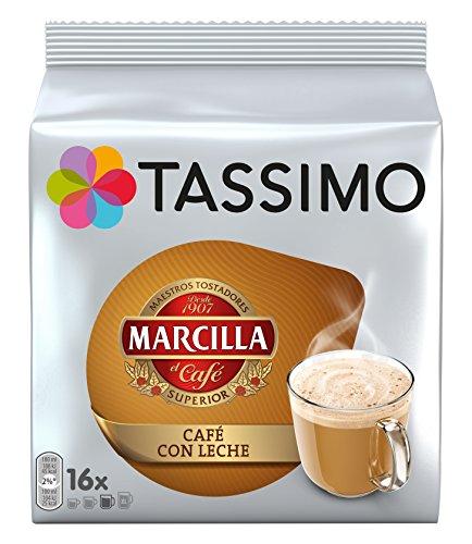 Foto de Tassimo Café Marcilla Café con Leche - 80 Cápsulas (T DISCs) compatibles con cafeteras Tassimo Bosch - 5 Paquetes de 16 Unidades