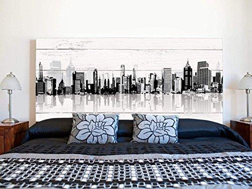 Kopfteil Bett PVC Gebäude mit Schatten | Verschiedene Maße 150x60cm | Einfache Platzierung | Raumdekoration | Landschaftsmotive | Natur | Urbes | Multicolor | Elegantes Design