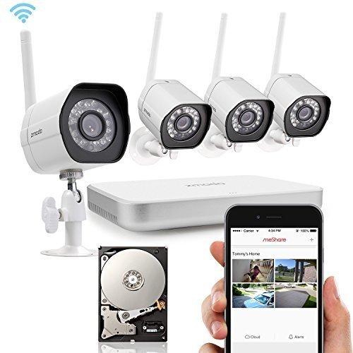 Zmodo-4-CH-NVR-4-Wireless-720P-HD-Smart-Security-sistema-Cmara-WIFI-Vigilancia-con-500-GB-disco-duro-ZM-de-kw0002--500-GB-de-de