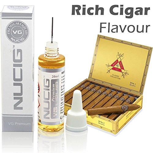 NUCIG® Rich Cigar E Liquid | 20ml Eliquid | for Ecigarette | Clearomiser