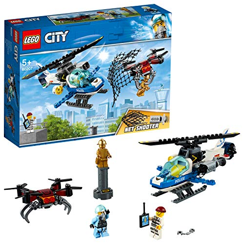 LEGO 60207 City Police Sky Police Drone Chase Set, Toy Helicopter and Drone, Police Toys for Kids Best Price and Cheapest