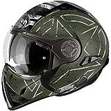 Airoh Casque de Moto Modulaire, Vert (Command Green), 58-M