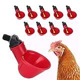 Irrigatore automatico per pollo - 10 pezzi per irrigazione per pollame Bicchieri per abbeveratoio per pollo, irrigatore per nippler per pollo/anatre/quaglie/capezzolo