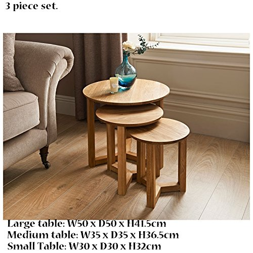 New space saving Tilbury Nest of Tables 3pc (Small,Medium,Large) for sale  Delivered anywhere in UK
