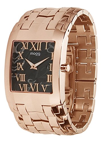 Moog Paris Jewel Rain Women's Watch with Black Dial, Rose Gold Strap in Stainless Steel - M45144-003