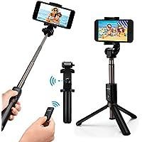 Bastone Selfie Mpow 3 in 1 Treppiede Bluetooth , Estensibile 360° Rotazione Selfie Stick Cavalletto con Bluetooth Controllo Remoto per iPhone XS Max/XS/XR/X/8 Plus/8/7, Android Saumsang S8 /Saumsang Galaxy S8, Google,Oneplus,Honor 8