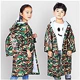 AINUO Regenmantel der Kinder mit Einer Tasche, zum des Hut-Jungen-und Mädchen-Studenten-Regenmäntel Umweltschutz-Baby-Eva-Ponchos zu erhöhen (Größe : XL)