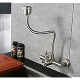 SJQKA-Robinet de cuisine en acier inoxydable 304 robinet chaude et froide, robinet mural, Mitigeur d'évier en acier inoxydable