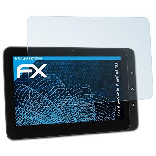 atFolix Schutzfolie kompatibel mit ViewSonic ViewPad 10 Folie, ultraklare FX Displayschutzfolie (2X)