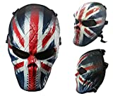 Airsoft teschio pieno maschera di protezione militare paintball Halloween costume Htuk®, England