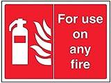 vsafety 13039ar-r Fire Equipment, Schild,für Nutzung auf jedem Feuer, starrer Kunststoff, Landschaft, 200mm x 150mm, rot