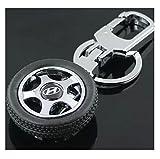 #6: AutoStark Spinning Tyre Rotary Wheel Locking Metal Keychain / Keyring / Key Ring / Key Chain Hyundai I10 Grand