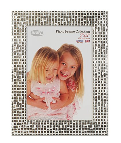 Inov8 7 x 5-Inch British Made Picture/Photo Frame, Mosaic Silver