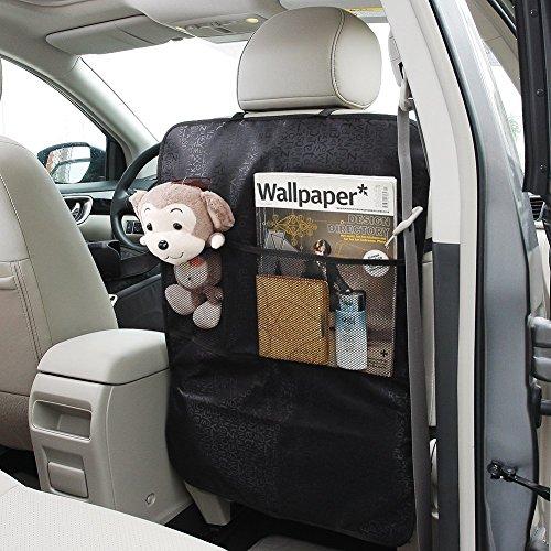 [2 Stück] Rückenlehnenschutz Bontec Auto Rückenlehnenschutz Große Autositz Schutzmatten Autositz Schutzmatte Wasserdicht, Universell Passend für Die Meisten Sitze -