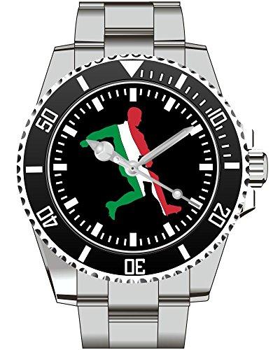 Italien Italy Fussball EM WM Geschenk Fan Artikel Zubehör Fanartikel Uhr 2238