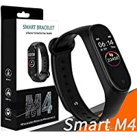 Hug Puppy® M4 Smart Band Fitness Tracker Watch Heart Rate with Activity Tracker Waterproof Body Functions Like Steps Counter, Calorie Counter, Blood Pressure, Heart Rate Monitor OLED Touchscreen