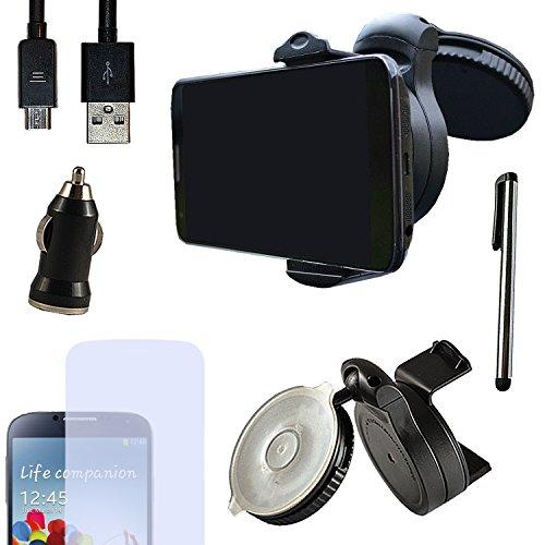 Eximmobile PREMIUM - Universal KFZ Halterung mit USB Ladekabel + Ladegerät + Folie + Stylus Pen für Huawei Ascend G630 als Navigation im Auto