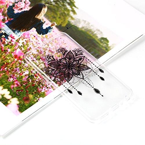Coque Huawei P Smart/Enjoy 7S, Etui Housse pour Huawei P Smart/Enjoy 7S, TRANSPARENTE SOUPLE SILICONE TPU étui de Protection, Surakey [Ultra Mince] Bumper Huawei P Smart/Enjoy 7S Coque Protection avec Impression de Motifs Housse Protecteur Thin Fit Cas en Gel Caoutchouc Premium Semi Hybrid Crystal Clair Case Cover Flex Soft Skin Arriere Téléphone Couverture avec Absorption de Choc Ultra Fine Léger Coque Housse Étui pour Huawei P Smart/Enjoy 7S (Campanule)