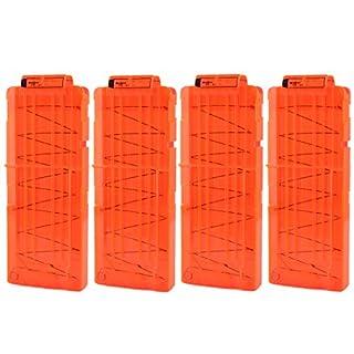 TXXCI Soft Bullet Clip Pistole Clip Reload Clip Magazine für 12 Darts Für Nerf N-Strike Elite Serie Spielzeuggewehre - Orange 4 Pcs