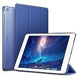 ESR iPad Air Hülle, Auto Aufwachen/Schlaf Funktion Wickelfalz Ledertasche mit Lichtdurchlässig Rückseite Abdeckung Leichtgewicht Schutzhülle für iPad Air/iPad 5 (Marineblau)