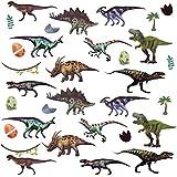 Oblique Unique Kinder Dino Sticker Set 32 STK. Farbenfrohe Dinosaurier Aufkleber zum Spielen Basteln Spielspass Kindergeburtstag